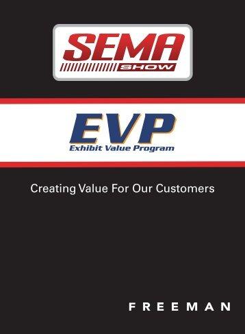 The 2009 SEMA Show Exhibit Value Program