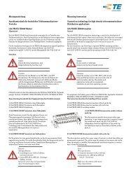 Verteiler LSA PROFIL HD180 Modul Mounting Instruction Conn