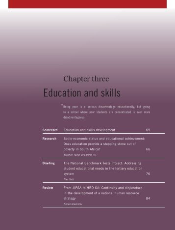 CHAPTER 3 Education and skills - Institute for Justice and ...