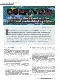OSEK/VDX: Driving the standard for optimized embedded systems