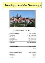 Neubürgerbroschüre Naumburg - Stadt Naumburg