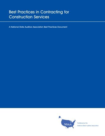 Best Practices in Contracting for Construction Services - National ...