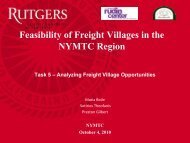 Feasibility of Freight Villages in the NYMTC Region - New York ...