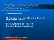 Meeting the National Minimum Standards - State Boarding Schools ...