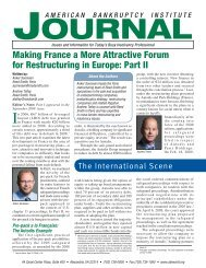 Making France a More Attractive Forum for Restructuring in Europe ...