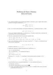 Problemas de Sinais e Sistemas Séries de Fourier