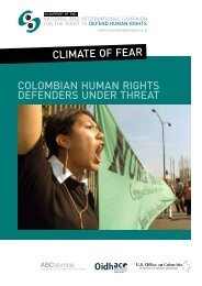 Colombian human rights defenders under threat - abcolombia.org.uk