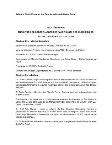 RELATORIO FINAL - APCD