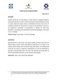 TIPOS DE SOLOS BRASILEIROS *Vieira, M. A. RESUMO Devido o ...