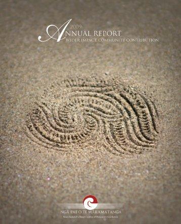 NGĀ PAE O TE MĀRAMATANGA ANNUAL REPORT 2009