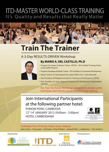 Train The Trainer - ITD GROUP - Institute of Training and Development
