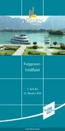 Forggensee- Schifffahrt - im Hotel Sommer