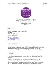 Communications Executive Job Pack - Edinburgh UNESCO City of ...