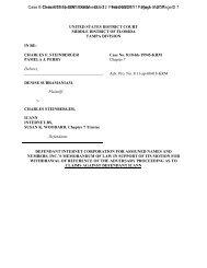 CHARLES F. STEINBERGER Case No. 8:10-bk-19945-KRM