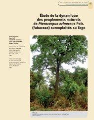 (Fabaceae) surexploités au Togo - Bois et forêts des tropiques - Cirad