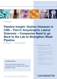 Pipeline Insight: Orphan Diseases in CNS – Part II ... - Datamonitor