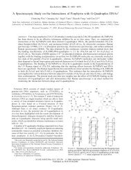A Spectroscopic Study on the Interactions of Porphyrin with G ...