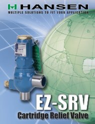 EZ-SRV Cartridge Relief Valves
