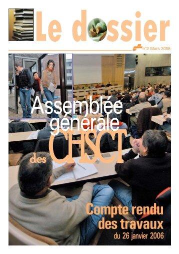 assemblee generale des chsct 2006 - Comprendre pour agir