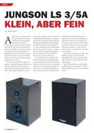 JUNGSON LS 3/5A KLEIN, ABER FEIN - Audiocation Audio Akademie