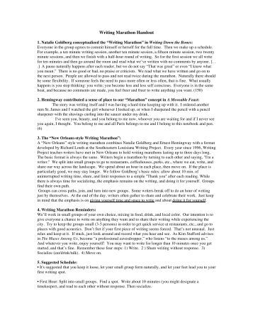 Writing Center : Newsletter and Handouts