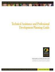 Technical Assistance and Professional Development ... - NCCRESt