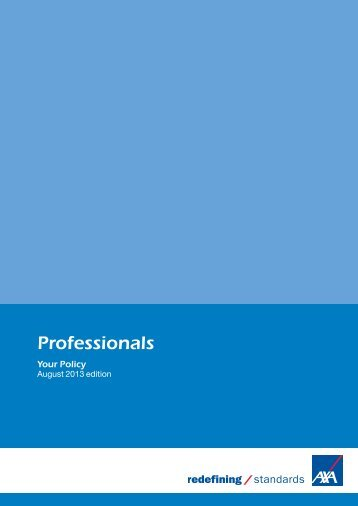 Professionals policy document (PDF) - Business banking