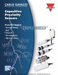 Capacitive Sensors - Carlo Gavazzi