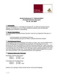 Ausschreibung - Forum Hausach eV