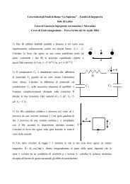 Prova d'esame del 16 aprile 2004 - Sapienza