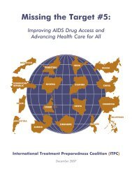 Missing the Target #5: Improving AIDS Drug Access ... - CD8 T cells