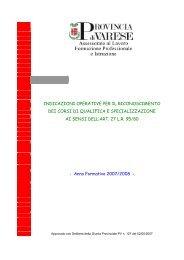 Indicazioni operative per il riconoscimento - la formazione ...
