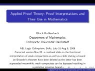Applied Proof Theory: Proof Interpretations and Their Use in ...