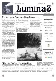 Mystère au Phare de Kordouen - Obscure cities archives