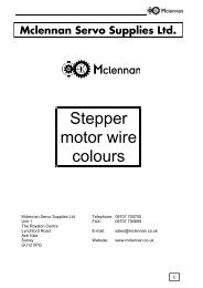 Stepper Motor Wiring Colours - Mclennan Servo Supplies Ltd.