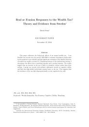 Real or Evasion Responses to the Wealth Tax? Theory and ...