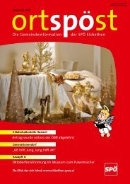 Die Gemeindeinformation der SPÖ Elsbethen