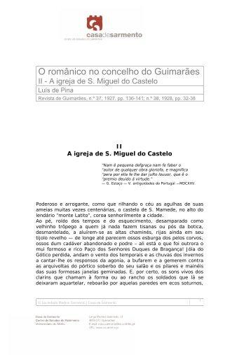 O românico no concelho do Guimarães - Casa de Sarmento