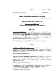 Faillite SPRL STARTRUCK c/ GENTE et consorts - Juridat