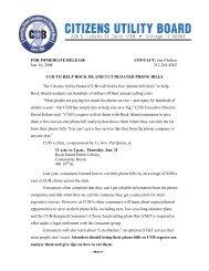 CUB to help Rock Island cut bloated phone bills - Citizens Utility Board
