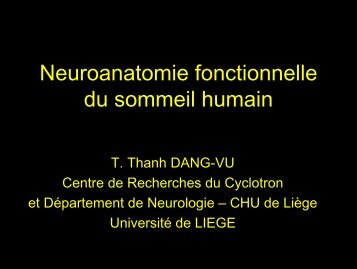 Neuroanatomie fonctionnelle du sommeil humain - Aepu.lu