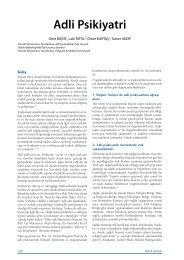 Adli Psikiyatri - Klinik Gelişim