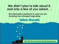 Zebra mussels - Civil & Environmental Engineering
