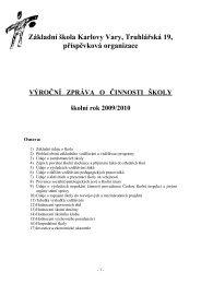 Výroční zpráva 09/10 - Základní škola Karlovy Vary, Truhlářská 19, po