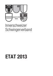 Etat ISV 2013. - Eidgenössischer Schwingerverband ESV