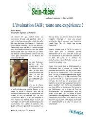Volume 3, numéro 1 - Février 2005 - Agence de la santé et des ...