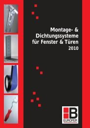 Dichtungssysteme 2010 - Klaus Baubeschläge GmbH