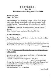 Gemeinderatssitzung vom 22.09.2004 (75 KB) - .PDF - Ehenbichl