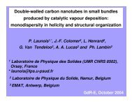 Double-walled carbon nanotubes in small bundles produced by ...
