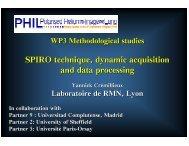 SPIRO technique, dynamic acquisition and data ... - Phil.ens.fr